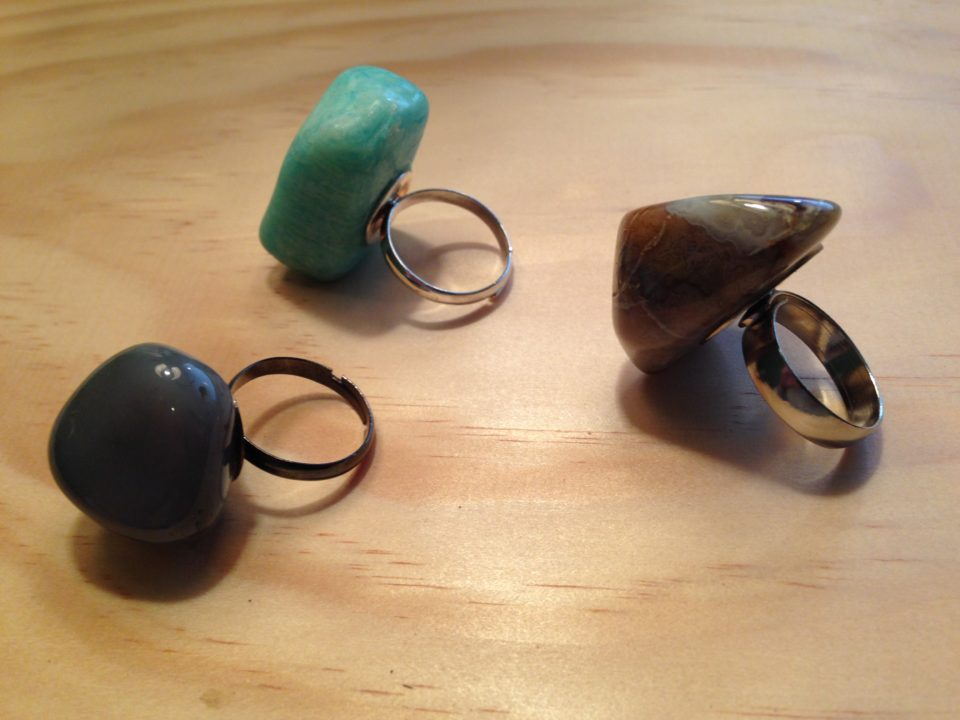 Beautiful Rock Rings, great for summer!