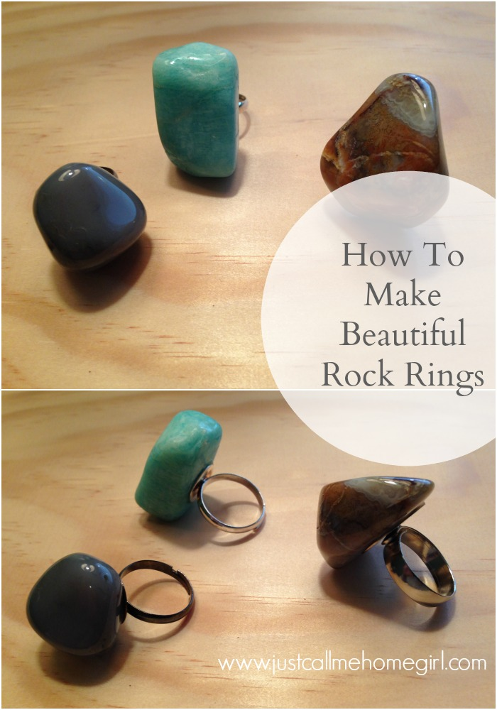 How to make rings using beautiful rocks