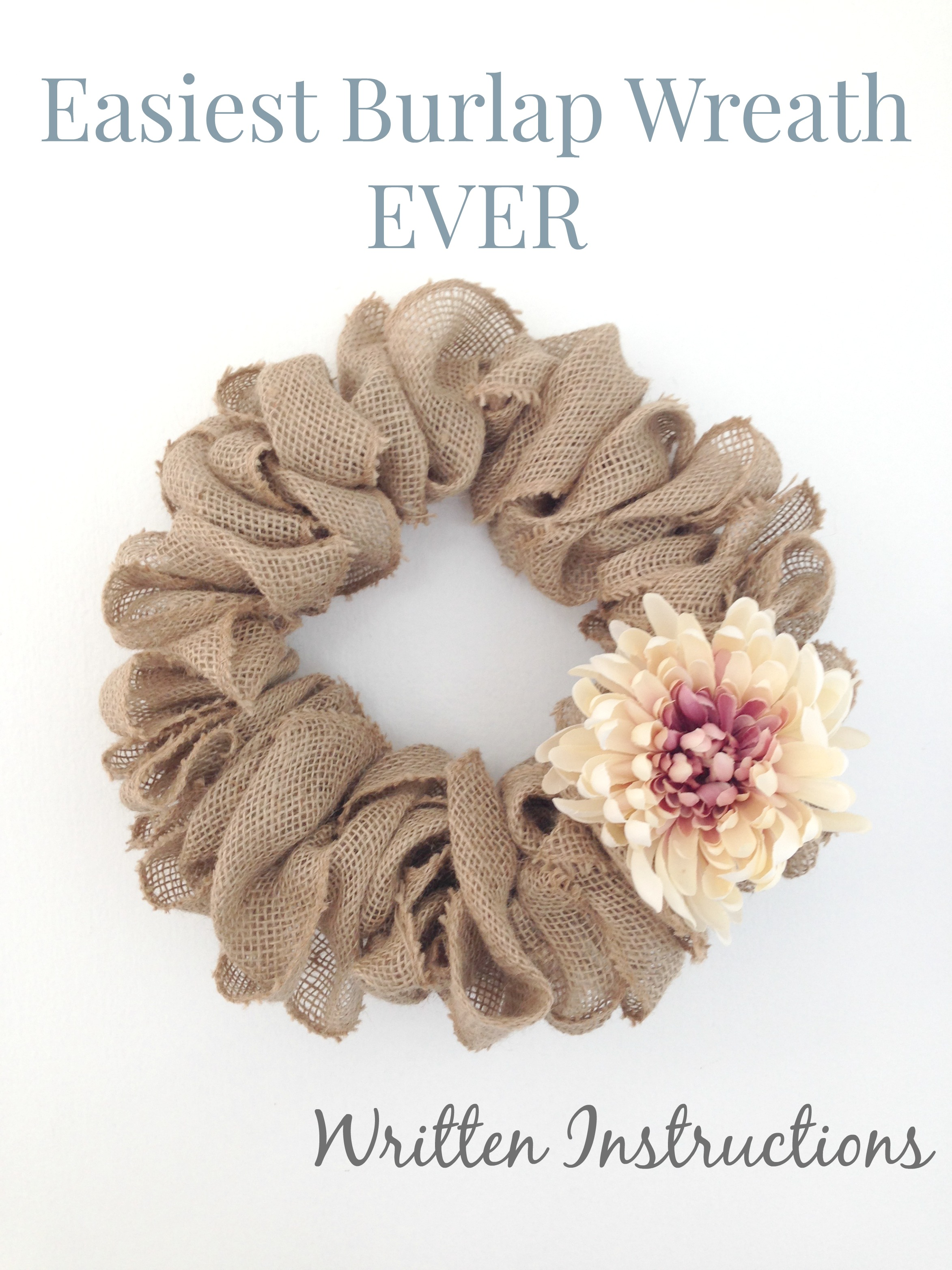 Easiest burlap wreath ever just call me homegirl for What to make with burlap