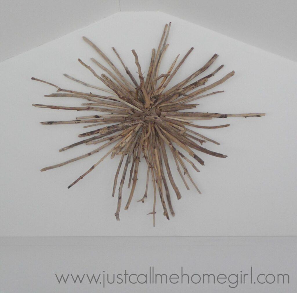 Beautiful driftwood sunburst with tutorial