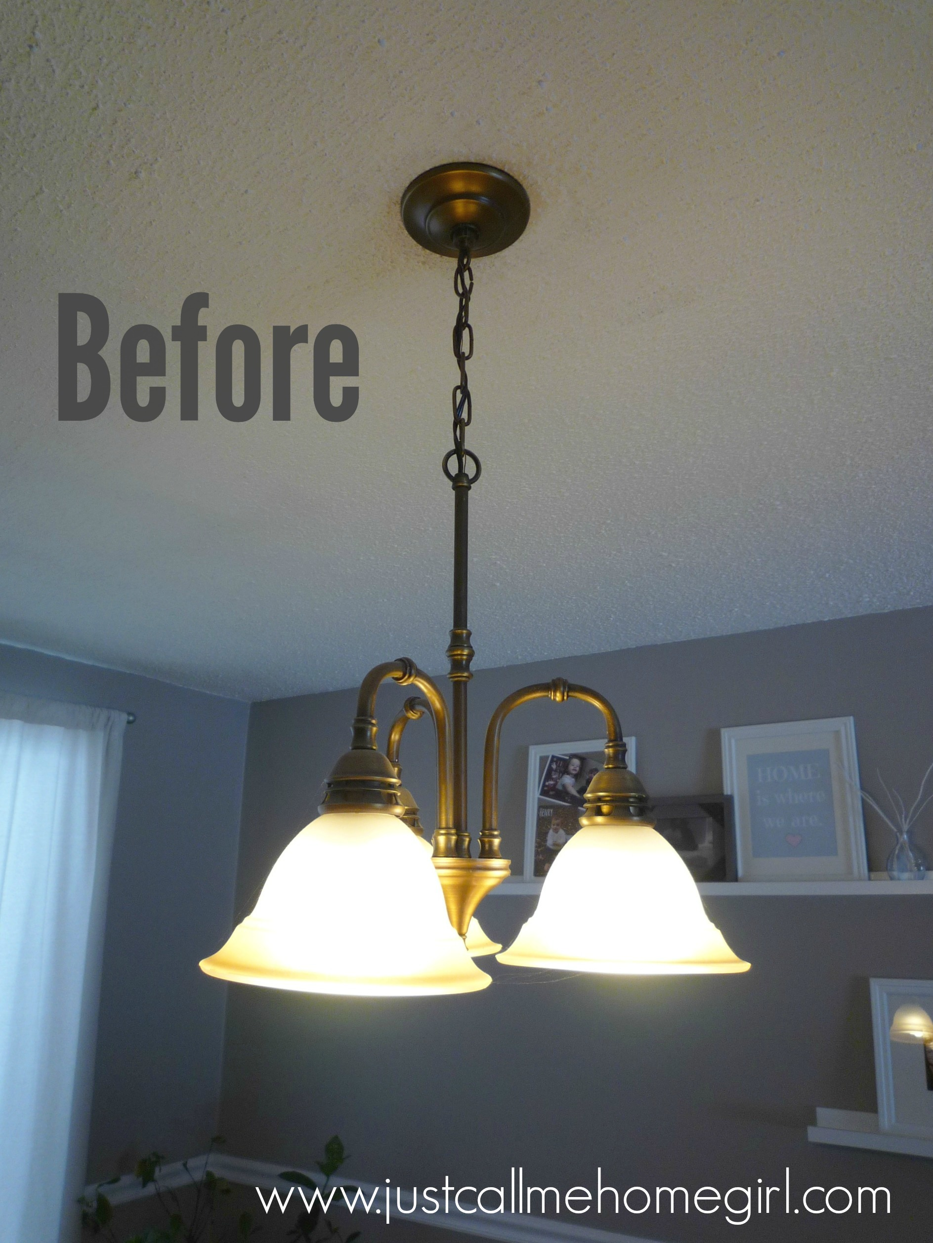 Dining Room Light Fixture Update