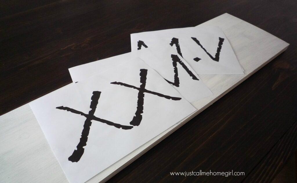roman numerals board