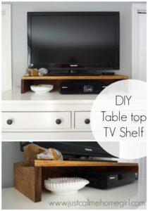 DIY Tabletop TV Stand