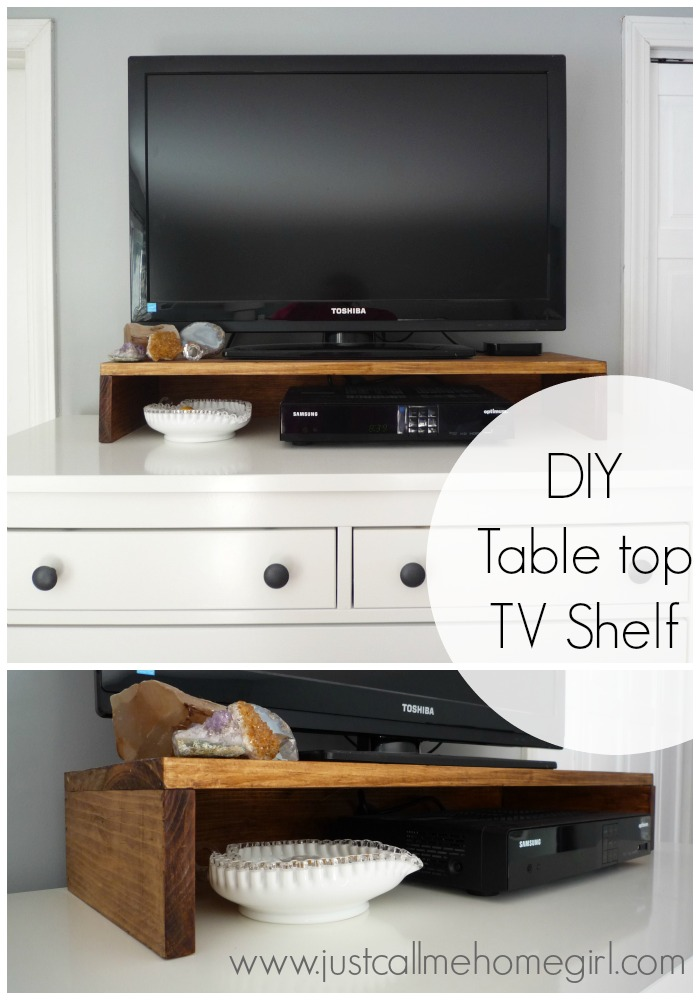 Diy Tabletop Tv Stand Just Call Me Homegirl