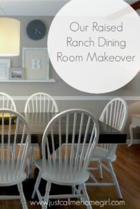 Raised Ranch Dining Room Reveal