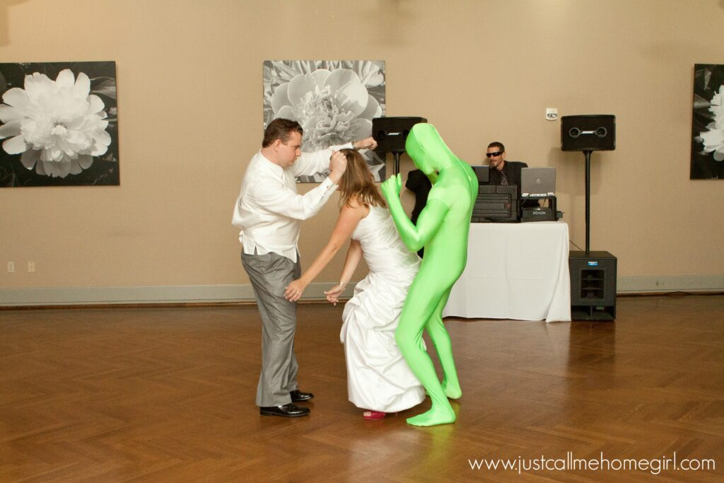Ah yes, hello greenman...watch the video for our full dance!