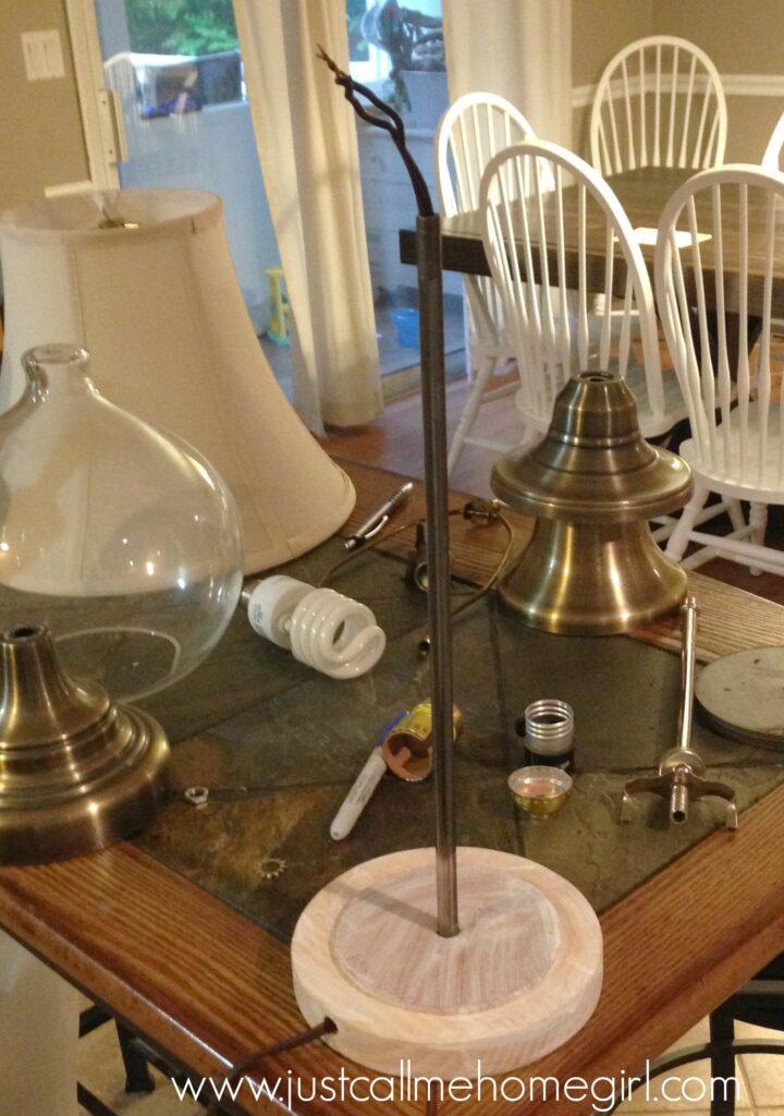 lamp taken apart