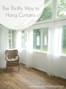 cheap way to hang curtains