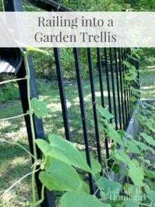 Railing into Garden Trellis