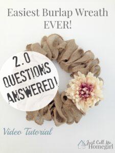 Easiest Burlap Wreath 2.0