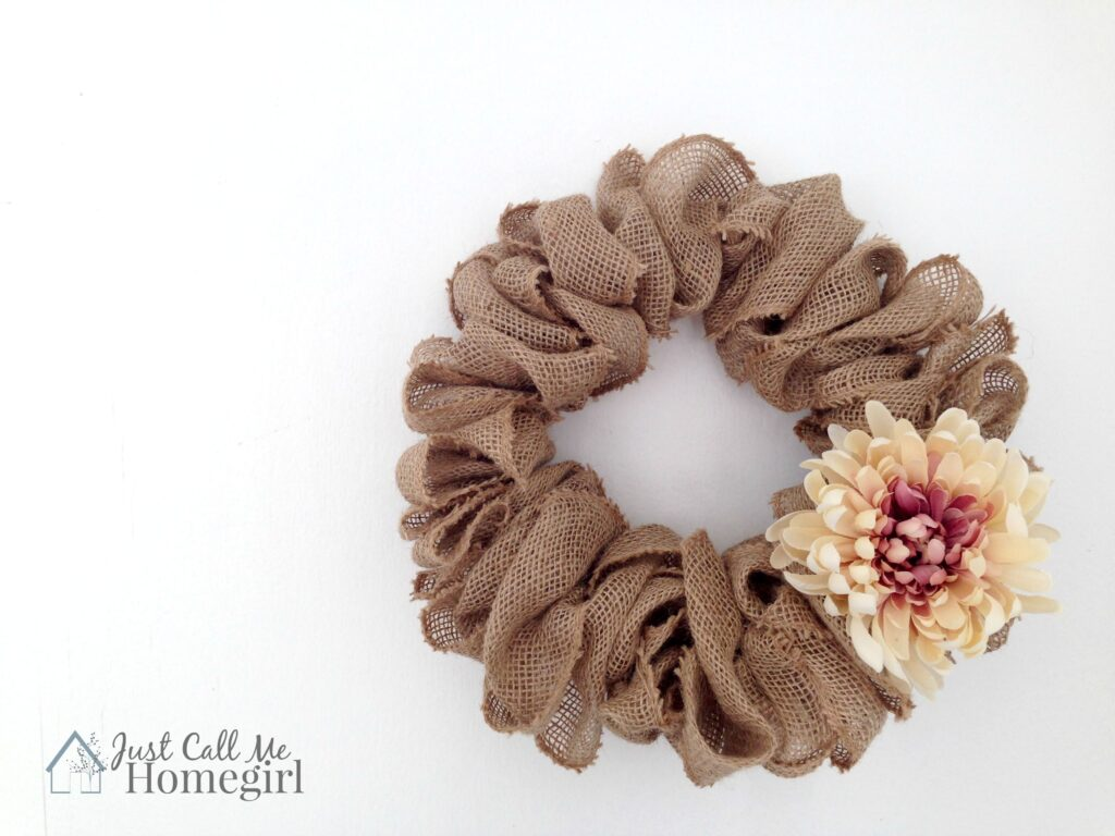 Easiest Burlap Wreath Video Tutorial Just Call Me Homegirl
