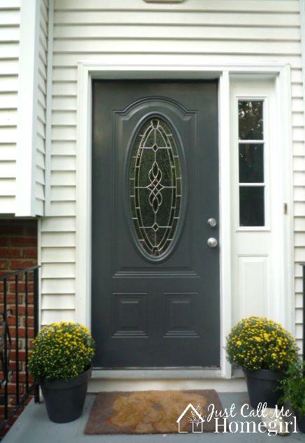 Outstanding Painted Front Door With Storm Door Photos