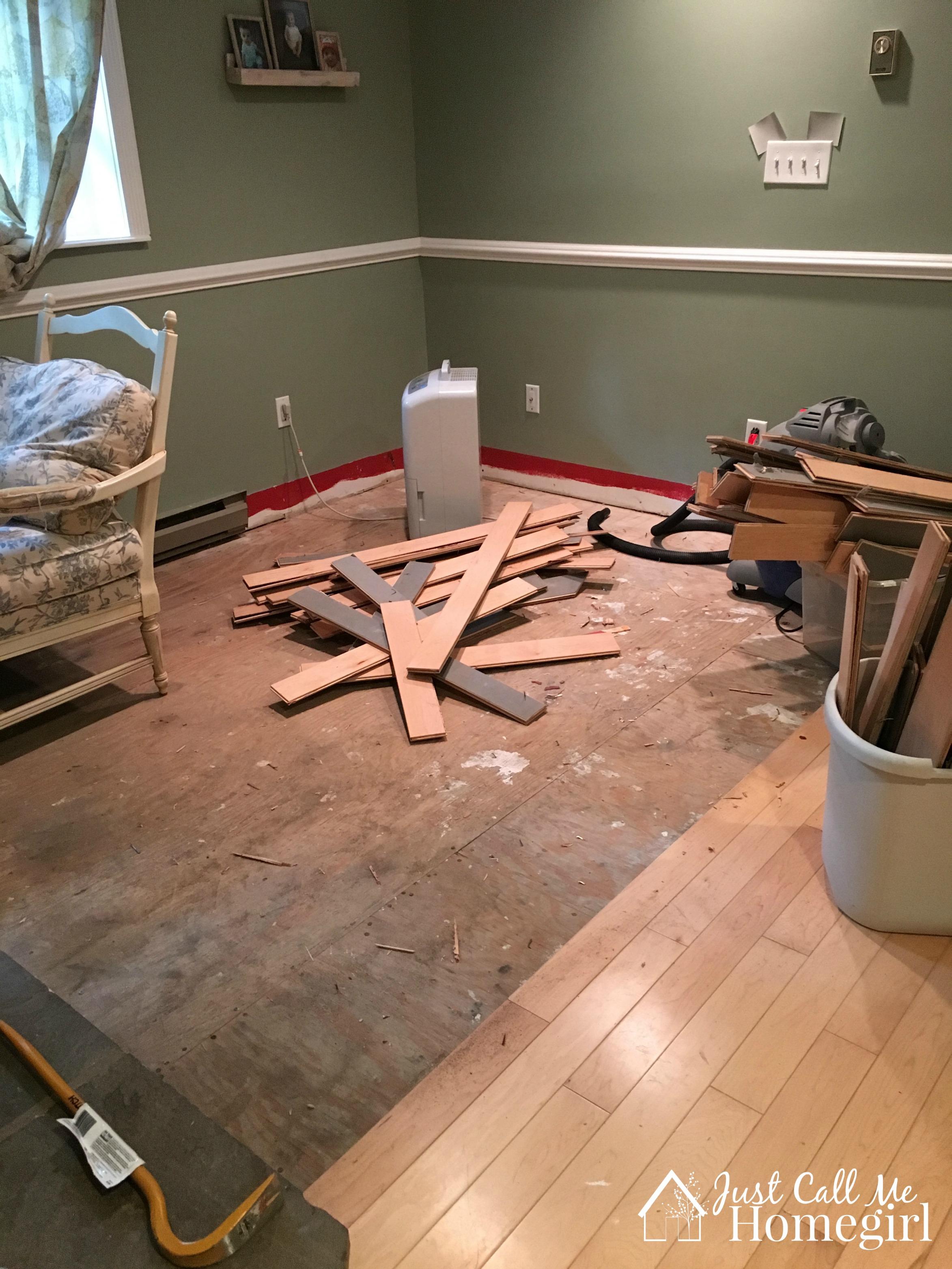 Before Flooring Corner