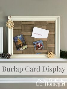 Easy Burlap Card Display