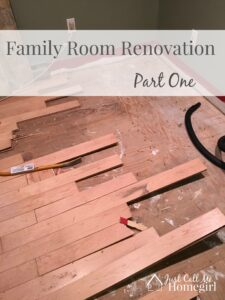 Family Room Renovation Part One
