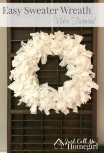 Sweater Wreath Video Tutorial