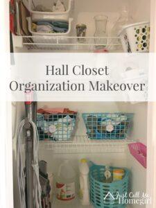 Hall Closet Makeover Organization