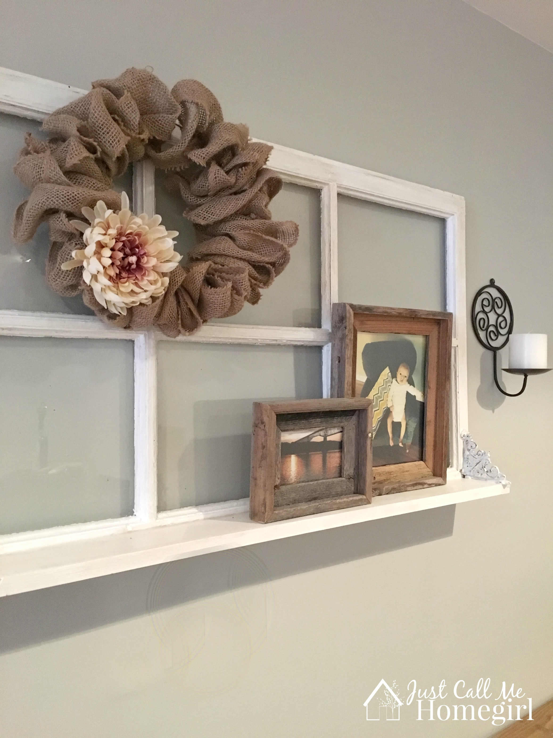 Adding a Shelf to an Old Window - Just Call Me Homegirl