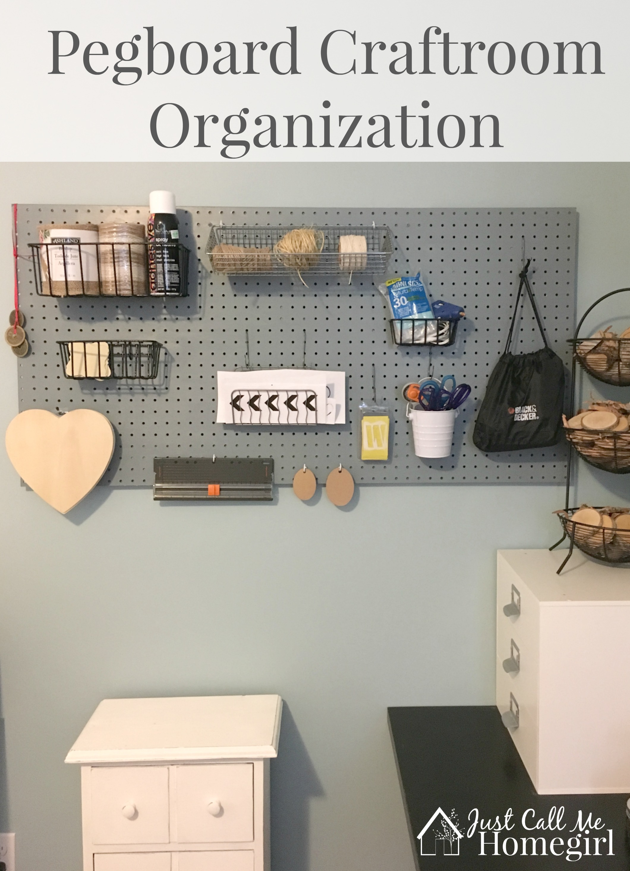 Pegboard Craft Room Organization Just Call Me Homegirl