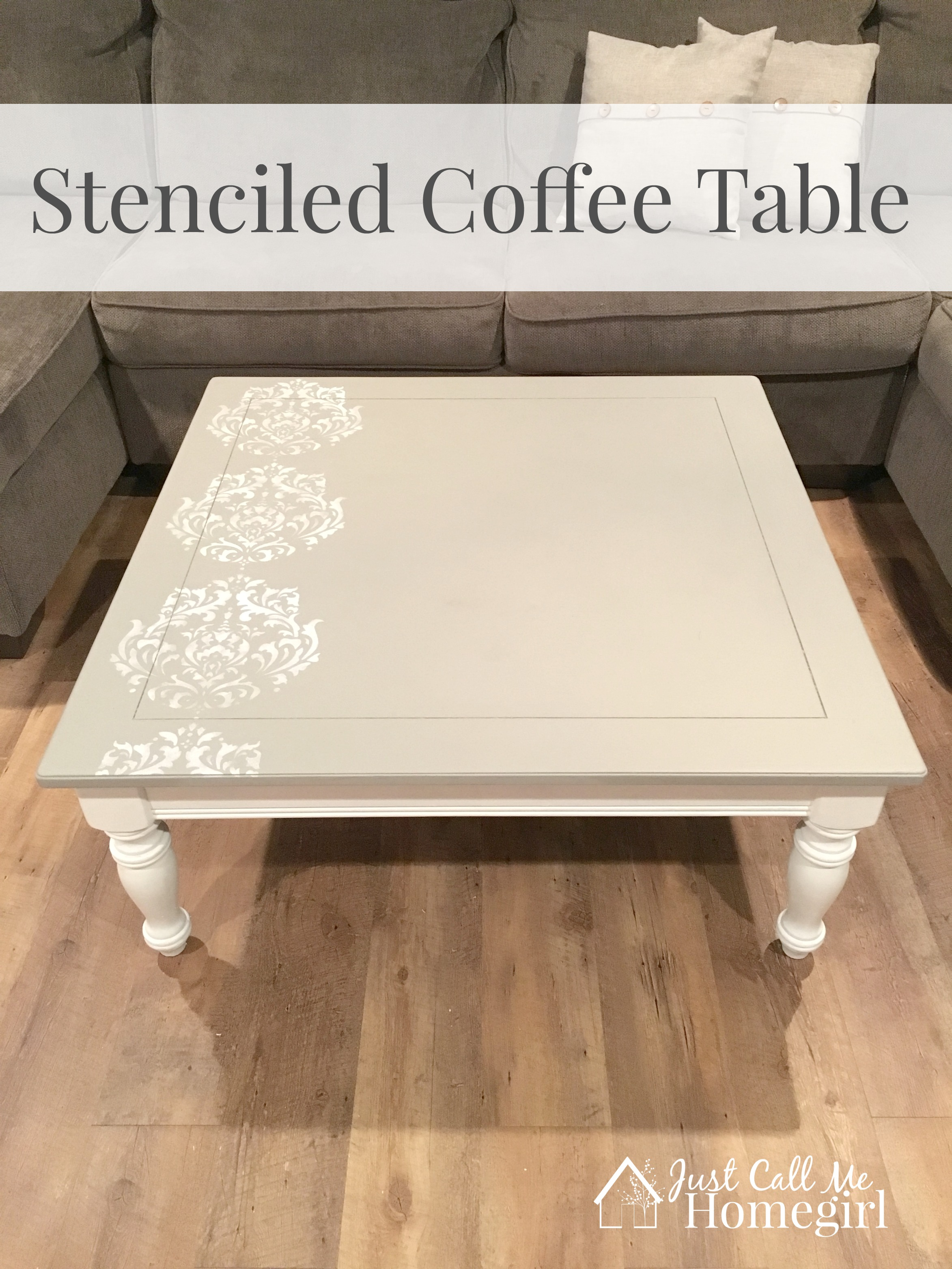 Stenciled Coffee Table Makeover Just Call Me Homegirl