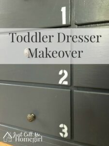 Toddler Dresser Makeover