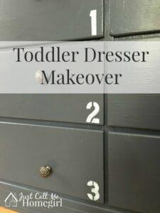 Toddler Dresser Makeover