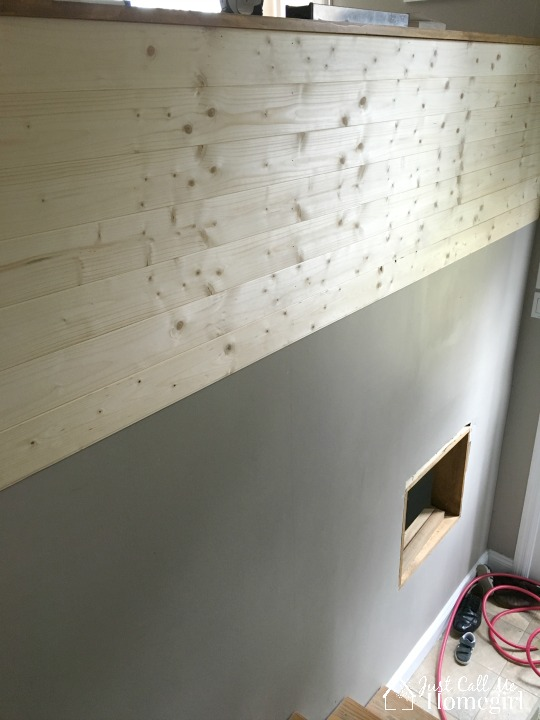 Plank Wall Progress