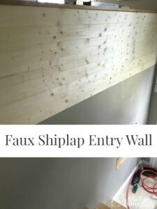 Faux Shiplap Entry