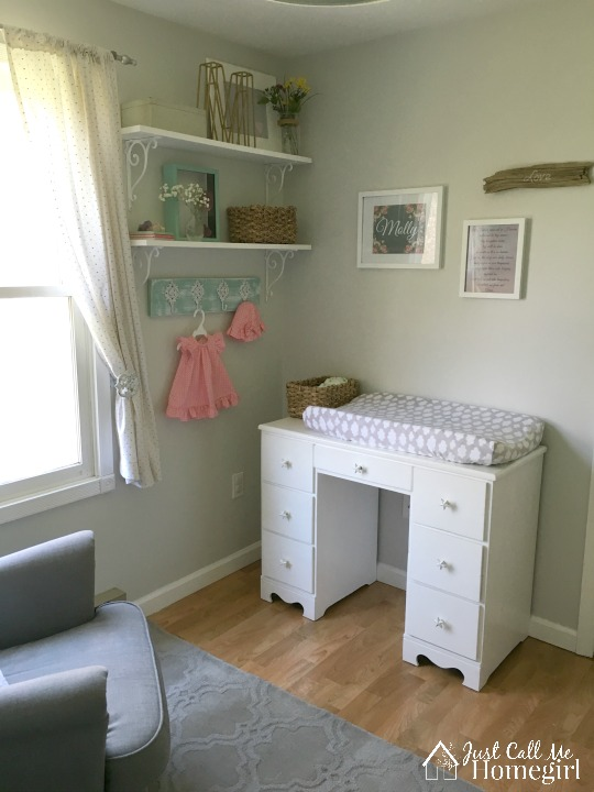 Baby Girl Nursery Changing Table