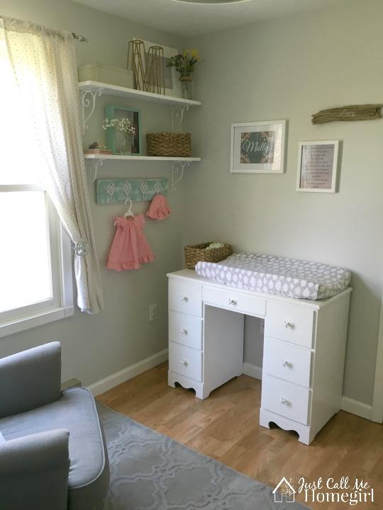 Baby Girl Nursery Changing Table