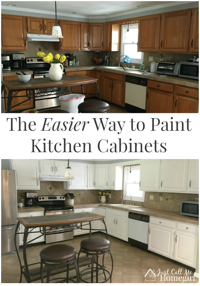 The easier way to paint kitchen cabinets just call me for Best way to paint kitchen cabinets video