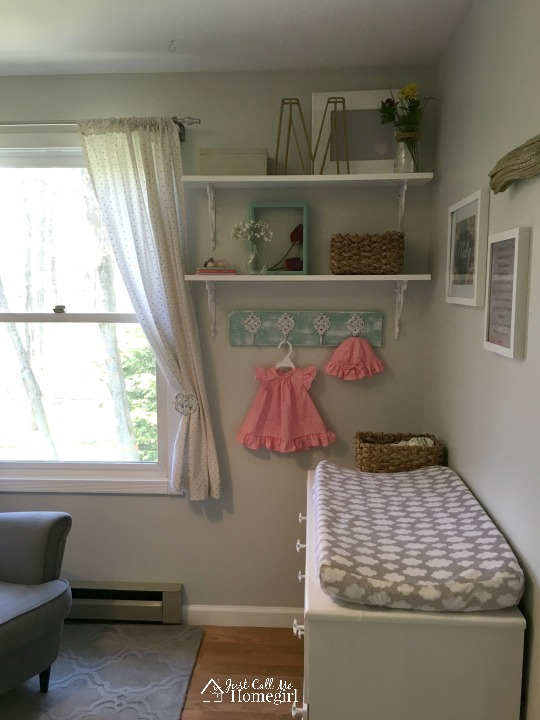 Baby Girl Nursery Changing Area