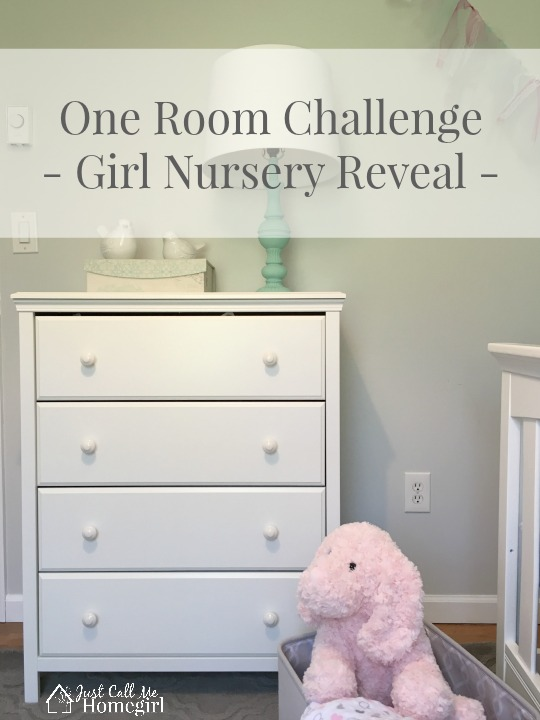 One Room Challenge Baby Girl Nursery