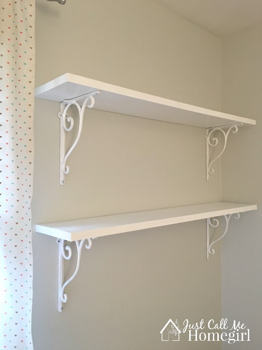 One Room Challenge Shelves