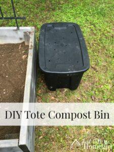 DIY Tote Compost Bin