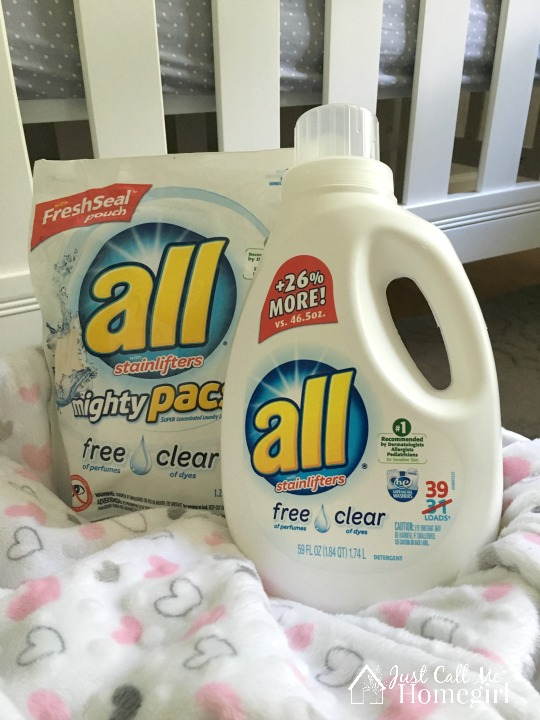all free clear to wash new babies clothes in without the chemicals