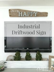 Making of an Industrial driftwood sign
