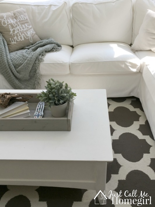 White Sunroom and Target Rug