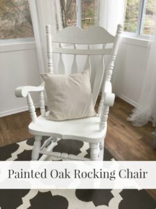 Painted Oak Rocking Chair