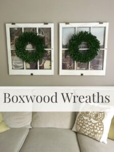 My New Boxwood Wreaths