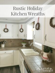 Easy Rustic Holiday Kitchen Wreaths