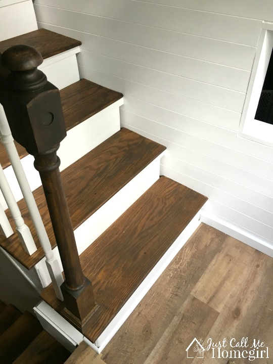 stained stairs