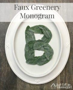 Faux Greenery Monogram
