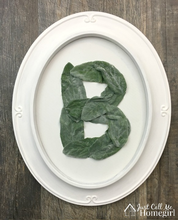 Monogram with faux greenery