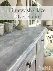 Limewash Glaze Over Stain