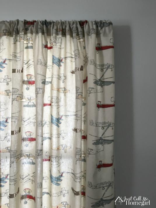 Vintage Airplane Toddler Curtains
