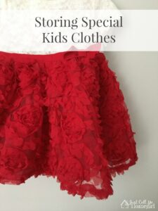 Storing Special Kids Clothes