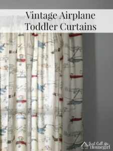 Vintage Airplane Toddler Curtains