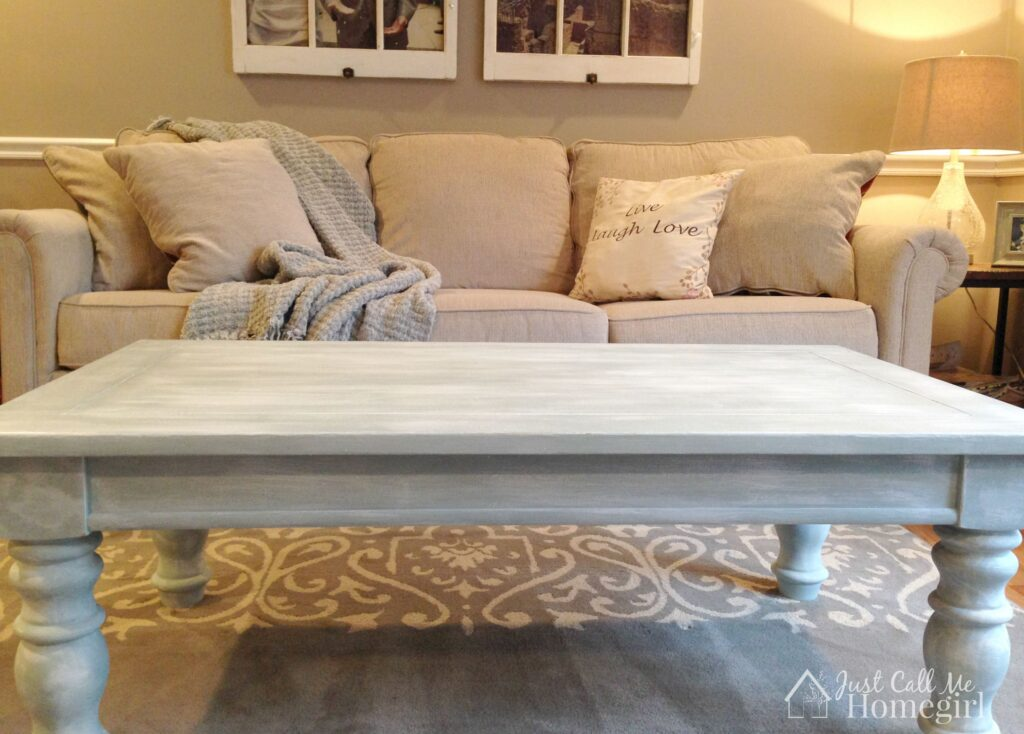 Farmhouse Coffee table after