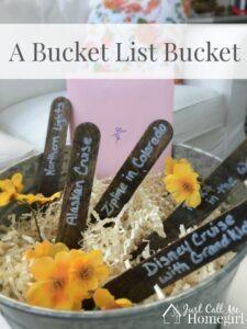 Mother's Day Bucket List Bucket